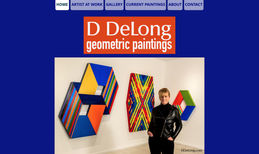 DDeLong Website for the artist D DeLong who makes geometri...