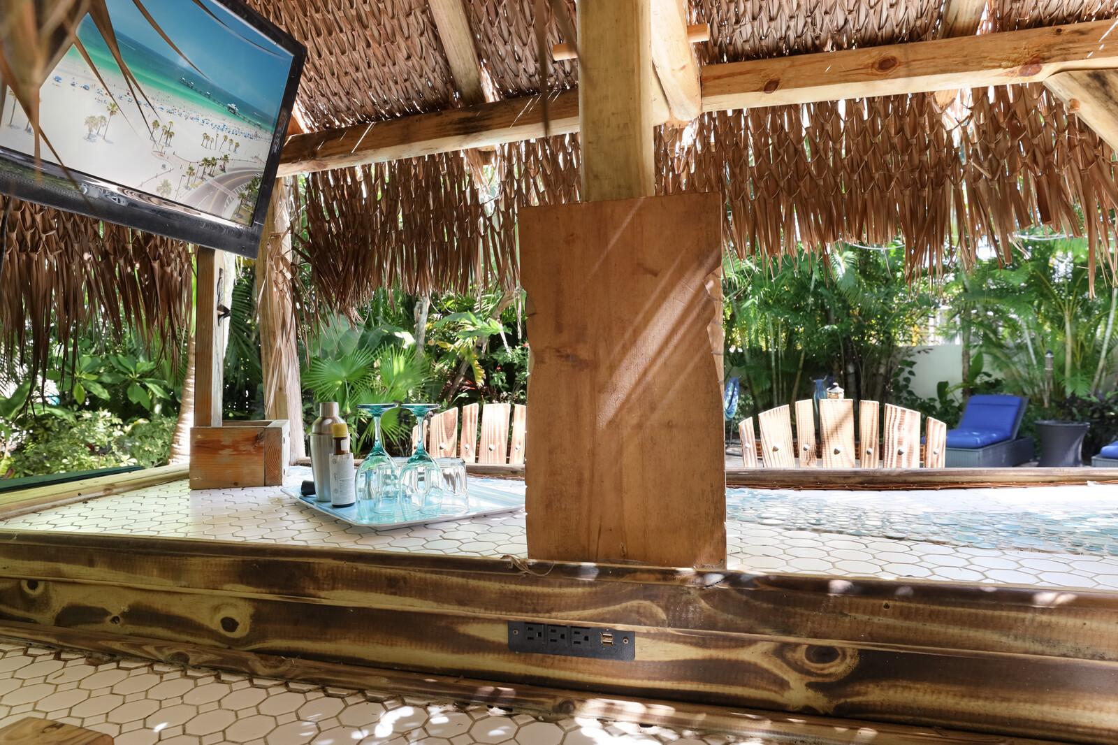 Tiki Bar with TV