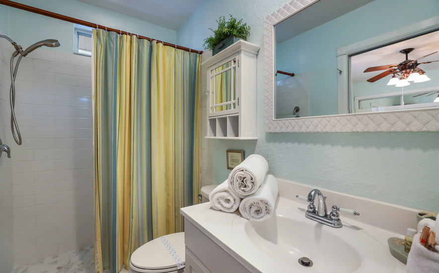Orchid Villa master bathroom with tile
