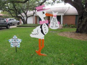 stork, yard