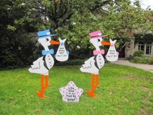New Jersey Stork Rentals ~ North Jersey Storks ~ Parsippany, NJ Stork Yard Signs ~ New Jersey Storks