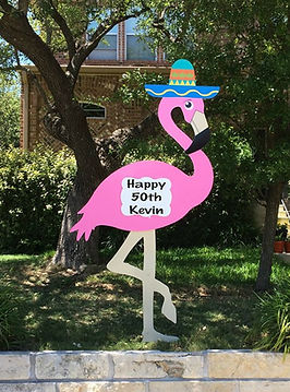 Birthday sign rentals fits around anyone's schedule