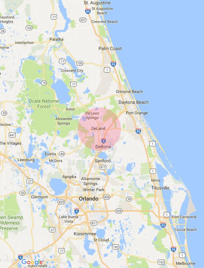 Map Deland Florida