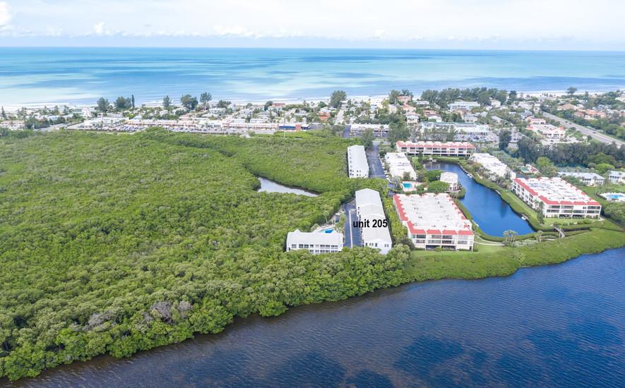 Aerial view of Holmes Beach