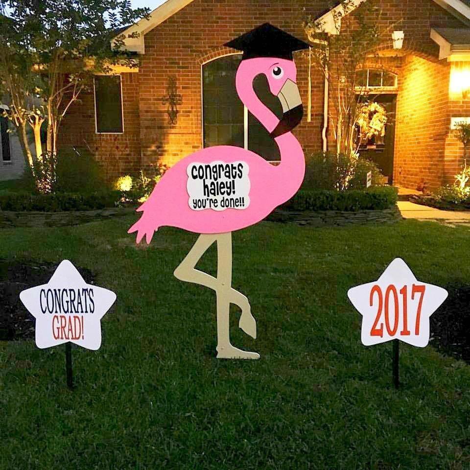 flamingo sign, celebration, birthday