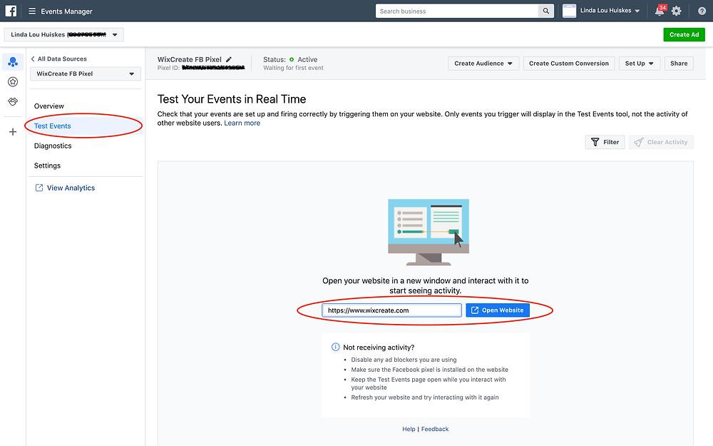 Test if Facebook Pixel works