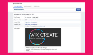 How to Use the Facebook Debugger for your Wix Website