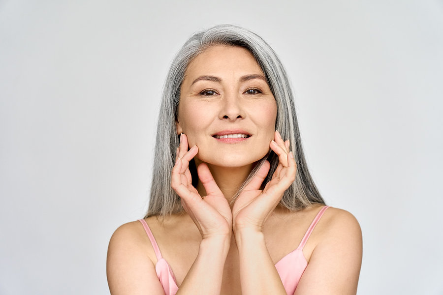 Older woman with smooth skin