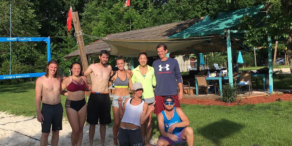 Co-ed 4's Beach Volleyball League