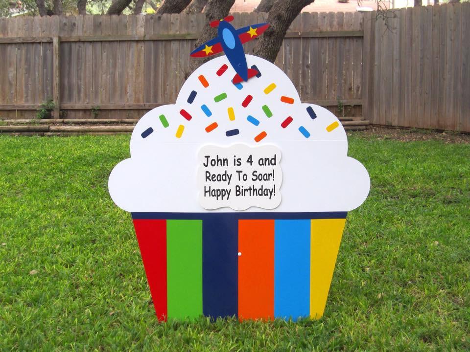 cupcake sign, celebration, birthday