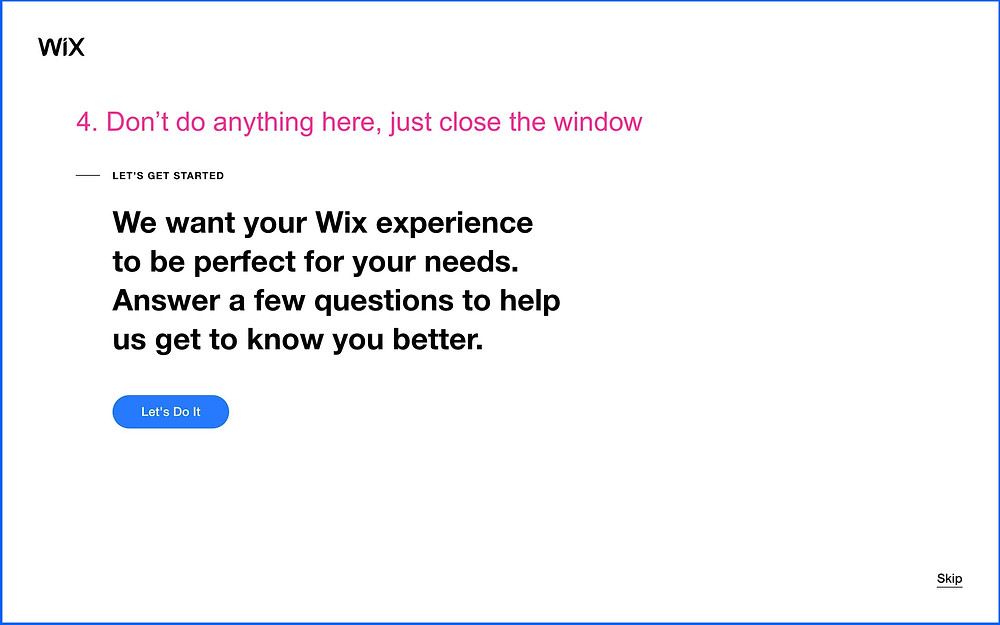 Close Window after Wix Sign Up