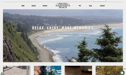 The Houses on Manzanita Beach Beautiful new website design for the Houses on Man...