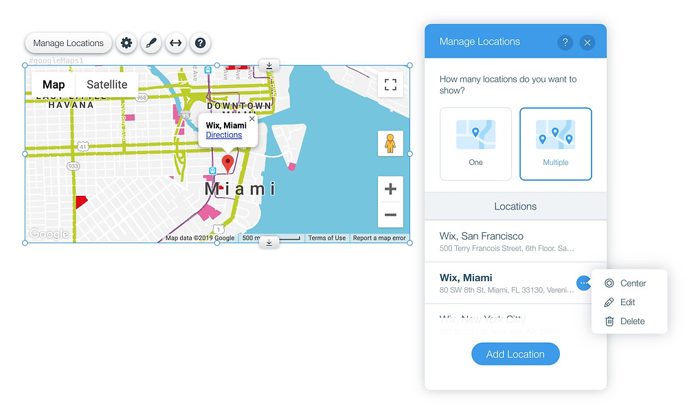 Wix Google Maps with Multiple Locations