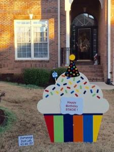 cupcake sign, birthday
