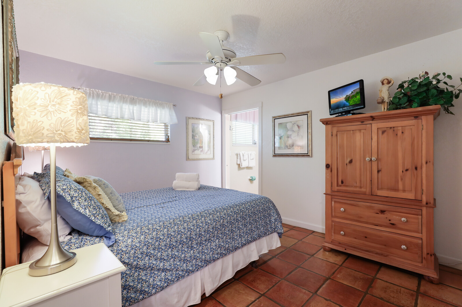 Frangipani Villa bedroom with attached