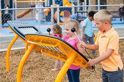 Wood fiber at playground