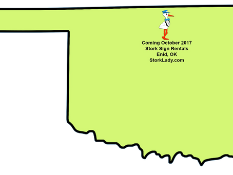 Enid, OK Stork Sign Rentals Coming October 2017 ~ Best of the Nest Signs