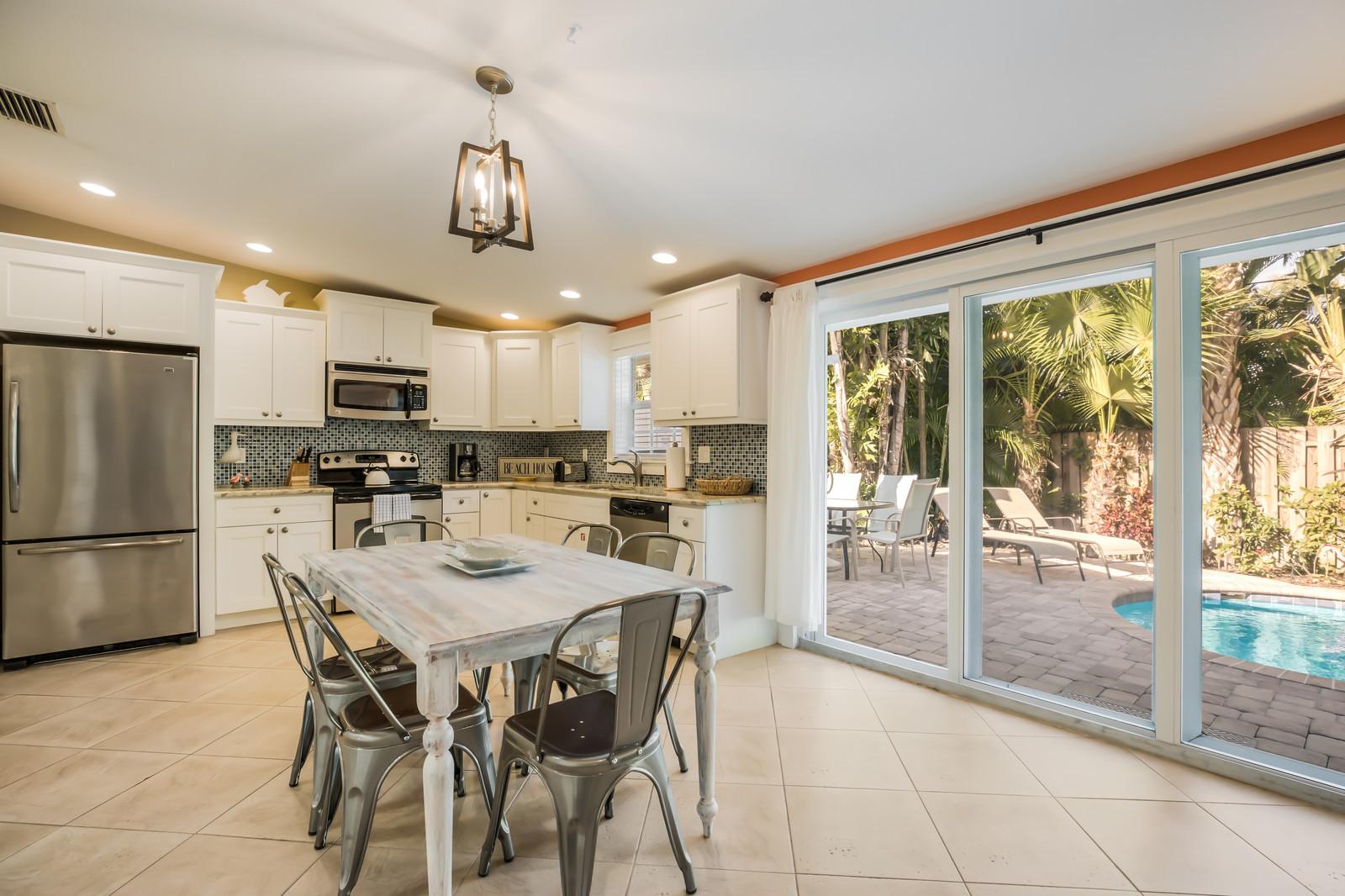 Kitchen and Door to Pool