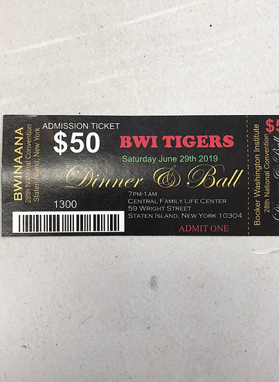 Convention Admission Ticket