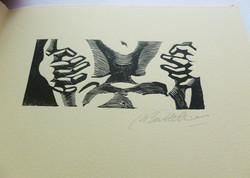 Detalle grabado de Marisa Battellini