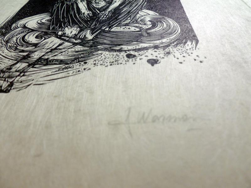 Detalle grabado papel Japón