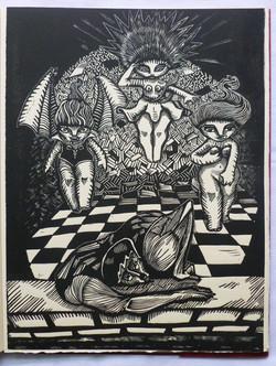 Grabado de Rubén Darío Acosta