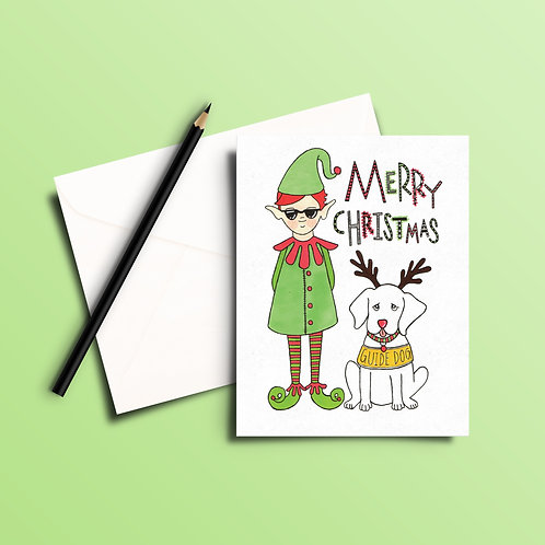 Elf's Lil Helper Christmas Card