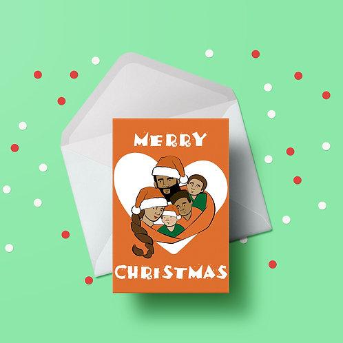 Personalised Illustration Christmas Card