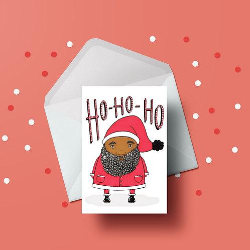 Ho Ho Ho Santa Christmas Card