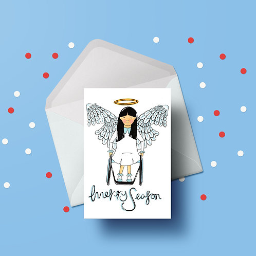 You're My Angel Santa Christmas Card
