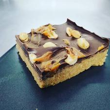 Salted Caramel Peanut Slice