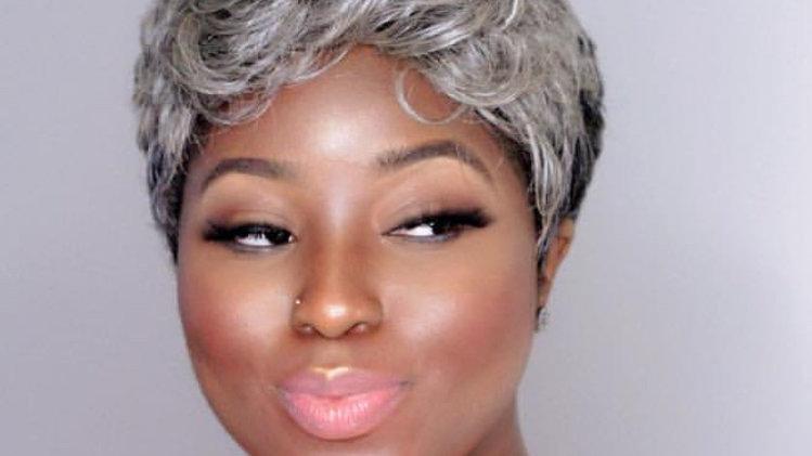 Short Grey pixie wig