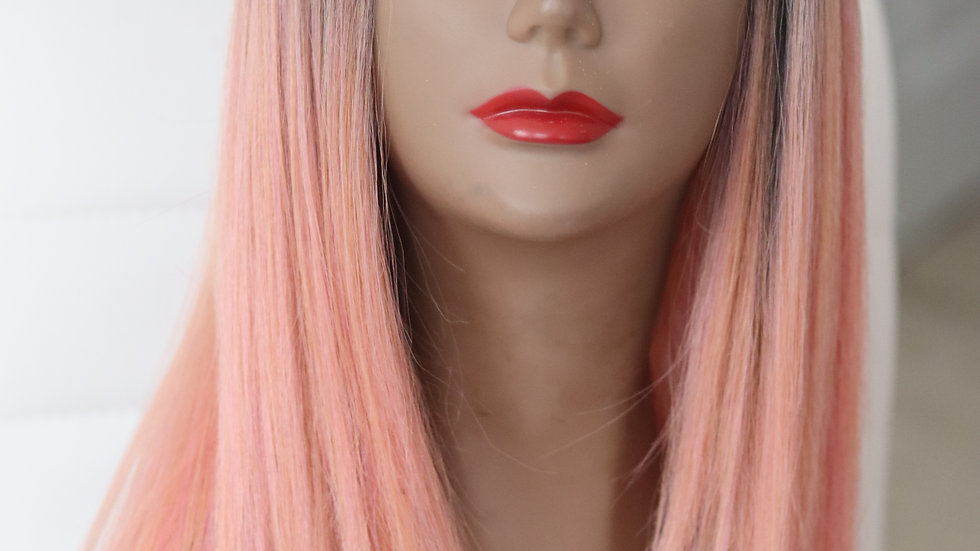 Pink Lemonade Royale - lace part wig