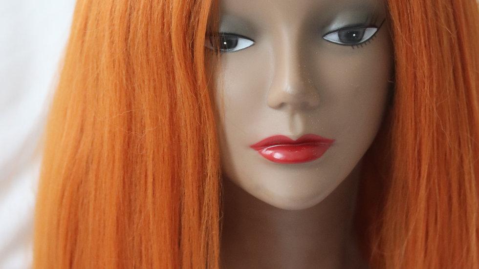 🍊 Orange Yaky lace front wig
