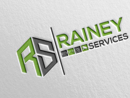 New Identity created for local business Rainey Services.