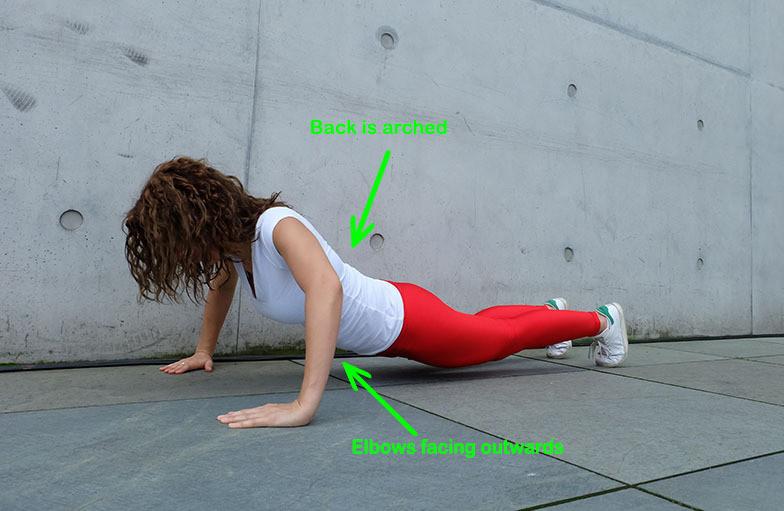 Elbows facing outwards