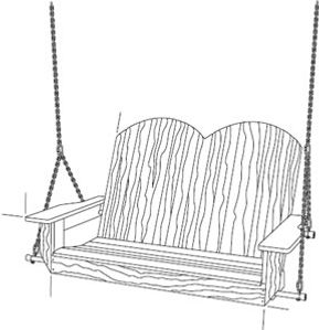 Woodworking plans porch swing for outdoor
