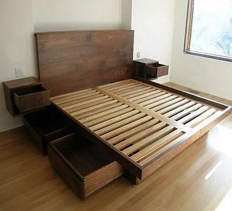 DIY bedframe woodworking