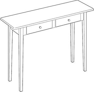 This is a woodworking plan for a table