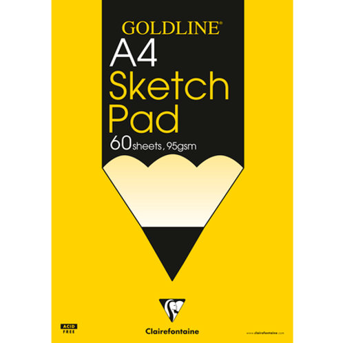 Clairefontaine Goldline Sketch Pad 95gsm 60 sheets A4