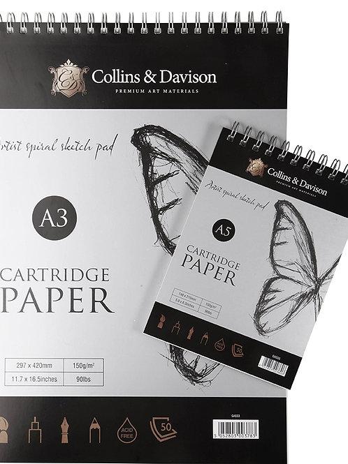 Collins & Davison A4 Artist Spiral Pad