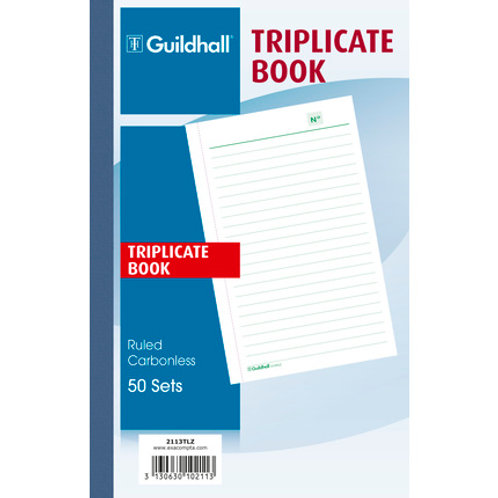Guildhall Ruled Triplicate Book