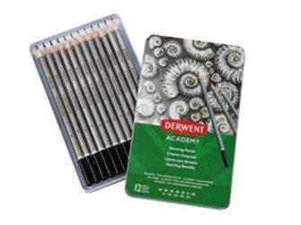 Derwent Academy Sketching Pencils Tin of 12