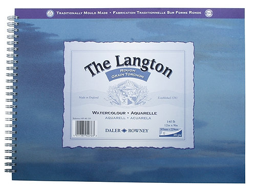 Daler-Rowney Langton Spiral Rough Pad 10 x 7''