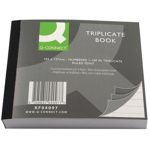 Q-connect Triplicate Book 102x127mm
