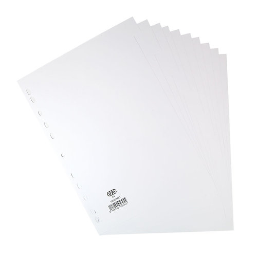 Elba 10-Part Divider 160gsm Manilla Multipunched A4 White
