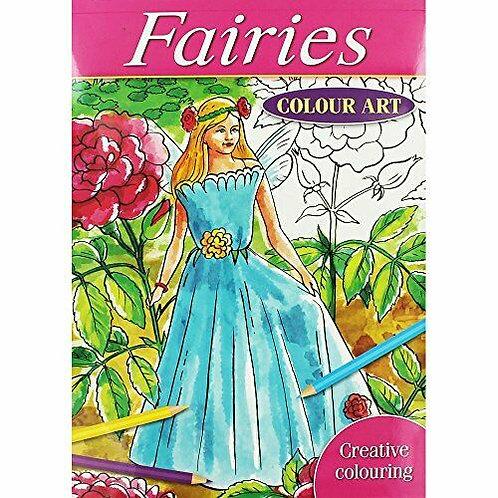A4 Colouring Book Fairies