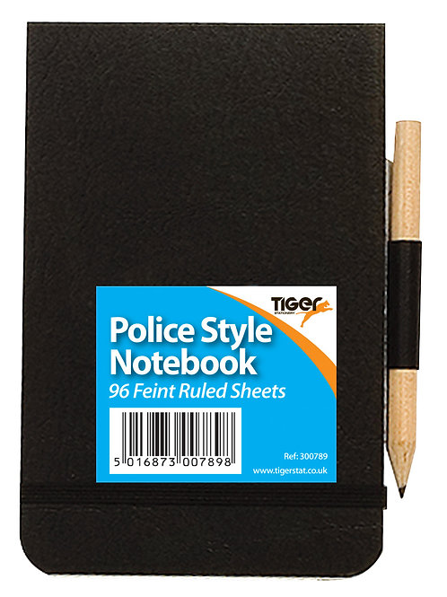 Tiger Police Style Notebook