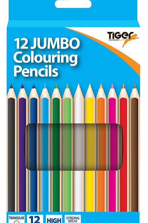 Tiger 12 Jumbo Pencils