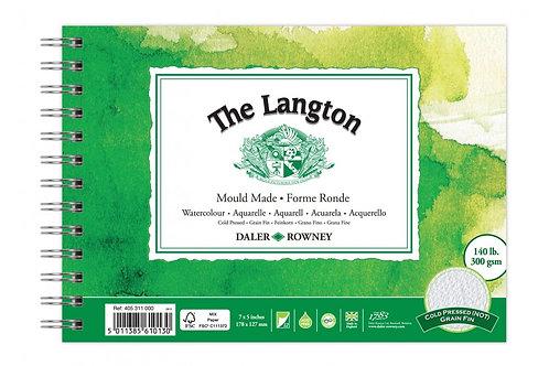 "Daler-Rowney Langton Watercolour Spiral Pad 7"" x 5"""